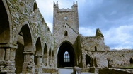 Jerpoint Abbey 3 Stock Footage