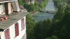 River Aare with house Stock Footage