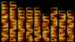 Loopable original lightpainting stylized equalizer sound meter Stock Footage