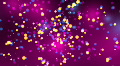 Spinning Glowing Glitters - Motion Background 45 (HD) HD Footage