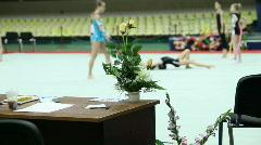 Rhythmic gymnastic Stock Footage