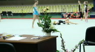 Stock Video Footage of Rhythmic gymnastic