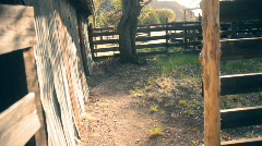 T184 faraway ranch old west western corale coral Stock Footage