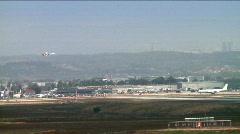 Landing of an international flight 1 Stock Footage