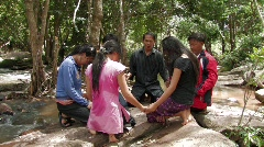 Laos:Christian Group Pray together - stock footage