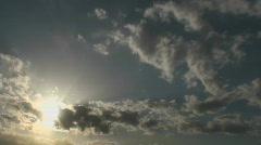 Sun Peak-A-Boo Time Lapse Stock Footage