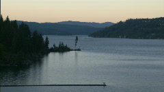 Resort Lake Sunset 1 Stock Footage