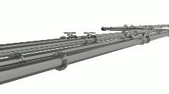 Steel Pipeline Stock Footage