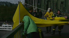 HD1080p Protest Action of Greenpeace in Cologne/Germany - stock footage