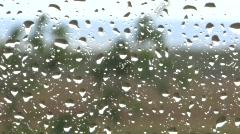 Rain on glass Stock Footage