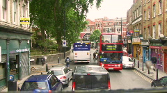 Driving down City of  London streets and London bridge, London, Greater Londo Stock Footage
