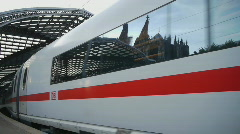 HD1080p German ICE Highspeed Train at Cologne Rail Station Stock Footage