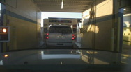 Stock Video Footage of At the automatic car wash - 7 - time lapse of entire wash