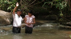 Laos: Christian Baptism Stock Footage