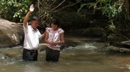 Stock Video of Laos: Christian Baptism Stock Footage