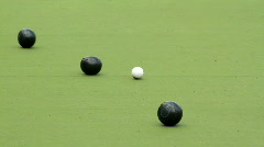 Lawn bowls - stock footage