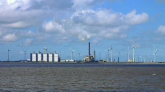 Ferry ride from Borkum to Emden, Germany Stock Footage