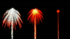 Magic smoking red Fireworks over black Stock Footage