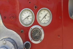 Old Firetruck Gauges  Stock Footage