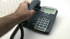 Making a phone call and economy news paper Stock Footage
