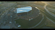 Aerial Amphitheater Concert Stock Footage