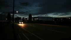 Boston Bridge Time Lapse at Night Stock Footage