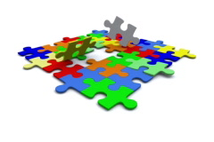 Colorful Puzzle - stock footage
