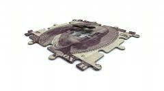 Puzzle - 100 dollar bill Stock Footage