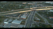 Stock Video Footage of Aerial Interstate 4 Flowing Traffic Overpass