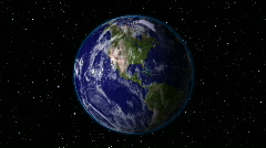 Planet Earth Rotate in Space - stock footage