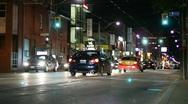 Jm947-Night Intersection Stock Footage