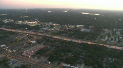 Aerial Interstate 275 Tampa Sunset Stock Footage