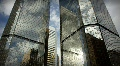 (1185) City Skyscrapers Urban Office Buildings Architecture Timelapse Cloud LOOP Footage
