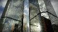 (1185) City Skyscrapers Urban Office Buildings Architecture Timelapse Cloud LOOP Footage