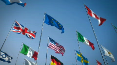 Flags - stock footage