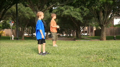 Kids catch ball Stock Footage