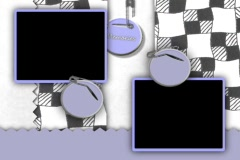 5330 Photo video picture frame cut cloth torn paper name tag  - stock footage