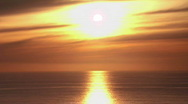 Stock Video Footage of Sunset on the sea horizon