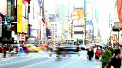 Times Square Time Lapse 2 Stock Footage