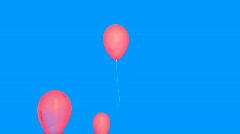 Pink Balloons  - stock footage