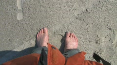 Barefeet on strand Stock Footage