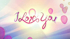 I Love You - Balloons - stock footage