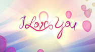 I Love You - Balloons Stock Footage