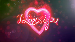 I Love You - Heart - stock footage