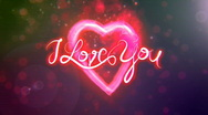 I Love You - Heart Stock Footage