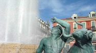 Stock Video Footage of Fountain at Massena place, Nice, France