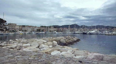 View of Sanary-sur mer, France Stock Footage