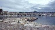 Stock Video Footage of View of Sanary-sur mer, France