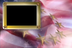 5337 picture frame Red white blue flag stars USA America wave  Stock Footage
