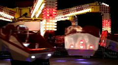 Spinning Scrambler ride at Carnival Stock Footage
